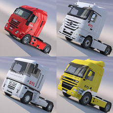 Semi Truck Collection 3D Model