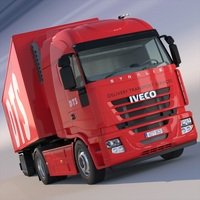 Iveco Stralis Refrigerated Semi Trailer Truck 3D Model