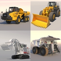 Collection Mining Vehicles 2 3D Model