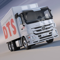Mercedes Actros Freight Box Truck  3D Model