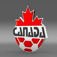 Canada football emblem  3D Model