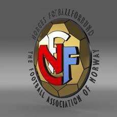 Norway football emblem   3D Model
