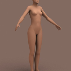 Nude Female Human 01 3D Model