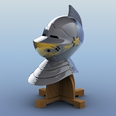 Medieval Knight Helmet 3D Model