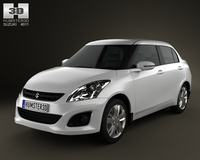 Suzuki (Maruti) Swift Dzire sedan 2012 3D Model