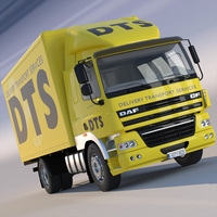 DAF CF85/FA Box Truck 3D Model