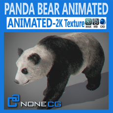 Animated Panda Bear 3D Model
