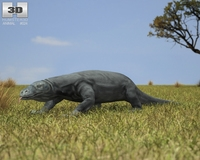 Komodo Dragon (Monitor, Varanus Komodoensis) 3D Model