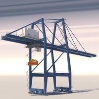 Harbour Crane 3D Model