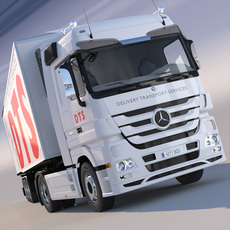 Mercedes Actros Space Cab Refrigerated Trailer 3D Model