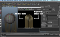 Free SS Make Hairs for Maya 1.0.0 (maya script)