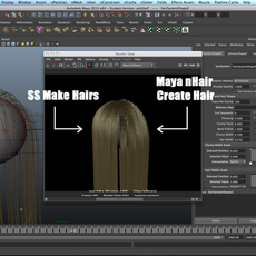SS Make Hairs for Maya 1.0.0 (maya script)