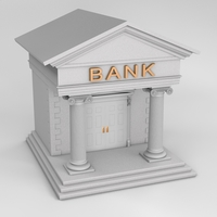 Bank Structure 3D Model