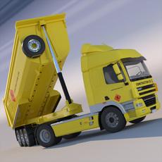 DAF CF85 Dumper Truck 3D Model
