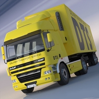 DAF CF refrigerated semi truck 3D Model