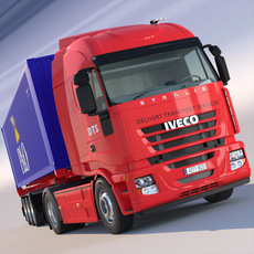 Iveco Stralis Container Semi Truck 3D Model