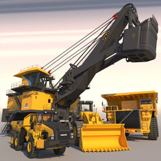 Mining Machines Collection 3 3D Model