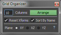 Free On-Grid Object Organizer for Maya 0.1.0 (maya script)
