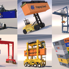 Harbour Machinery Collection 1 3D Model