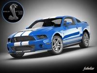 Shelby GT500 2010 3D Model
