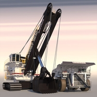 Collection Mining Machines 4 3D Model