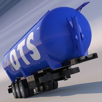 Tipping Trailer Silo 3D Model