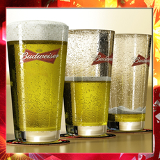 Budweiser Beer Glass 3D Model