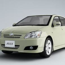 Toyota Car model Allex 3D Model