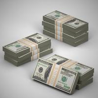 Money Bundles 3D Model