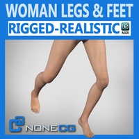 Adult Female Legs and Feet 3D Model