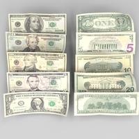 US Bank Notes 3D Model