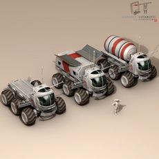 Lunar vehicles collection 3D Model