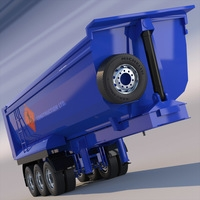 Dumper Tipper Semitrailer 3D Model