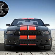 Shelby GT500 2010 std mat 3D Model