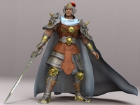 Chinese Ancient General 3D Model