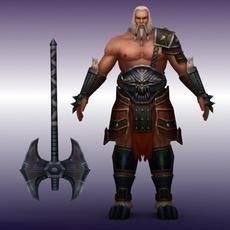 Diablo Barbarian Giant 3D Model