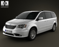 Chrysler Town & Country 2012 3D Model