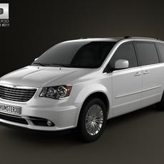 Chrysler Town & Country 2012 3D Model