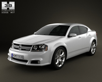 Dodge Avenger RT 2012 3D Model