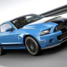 Shelby GT500 2011 3D Model