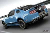Shelby GT500 2011 std mat 3D Model