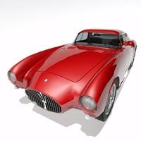 Maserati A6 GCS/53 Pininfarina Berlinetta 3D Model