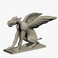 Statue of Griffin 3D Model