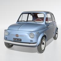Fiat Nuova 500 1958 3D Model