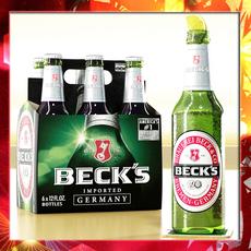 Becks 6 Bottles Cardboard Pack 3D Model