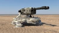 Snake AA gun 3D Model