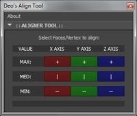 Free Deo's Aligner Tool for Maya 1.0.3 (maya script)