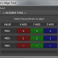 Deo's Aligner Tool for Maya 1.0.3 (maya script)