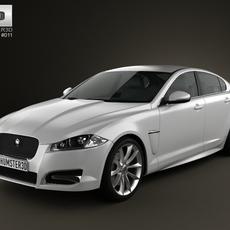 Jaguar XF 2012 3D Model
