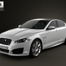 Jaguar XFR 2012 3D Model